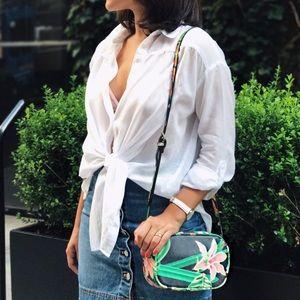 Handbags - Floral print crossbody bag